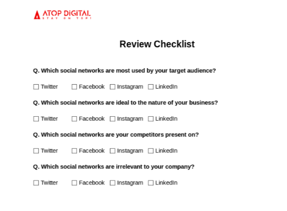 Start With A Review Checklist