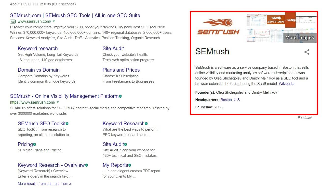 rich featured snippets
